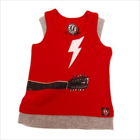 Купить Майка с аппликацией Mini Shatsu Lightning Guitar