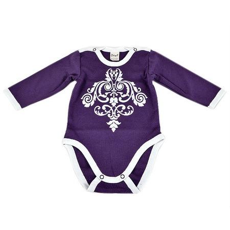 Купить Боди для новорожденных с длинным рукавом Ёмаё 24-06. Цвет: лиловый