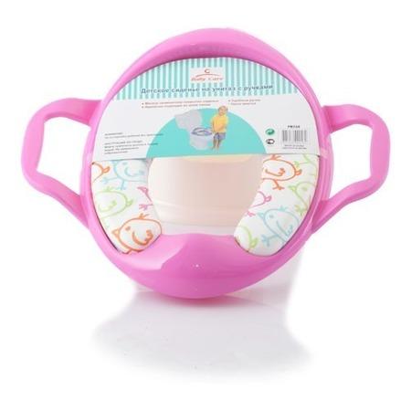 Купить Сиденье на унитаз с ручками Baby Care розовое