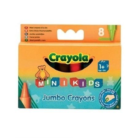 Набор восковых мелков Crayola Jumbo Grayons: 8 цветов