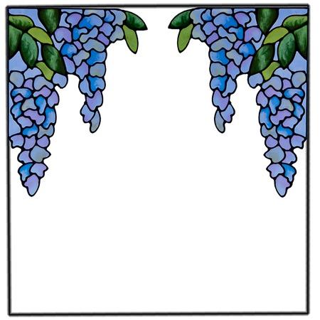 Купить Наклейка витраж «Виноградная кисть»