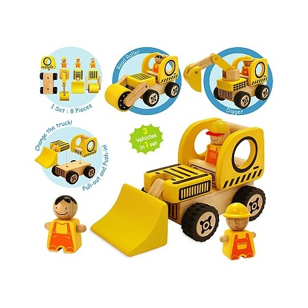 Купить Игровой набор I'm toy «Строительная спецтехника»