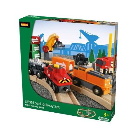 Купить Железная дорога Brio с подъемниками, переездами, грузами и поездом