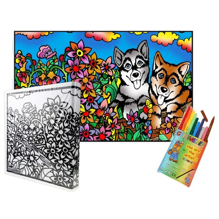 Купить Папка-раскраска Color Velvet «Собаки»