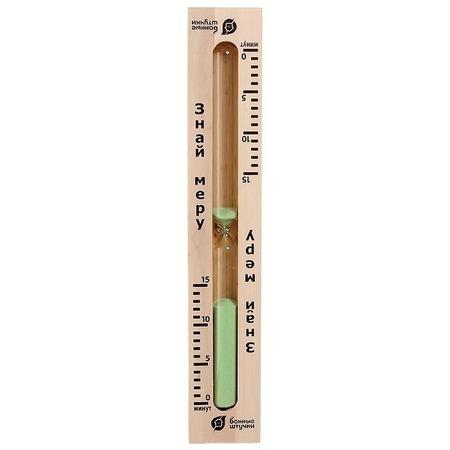 Купить Часы песочные для бани и сауны Банные штучки «Знай меру»
