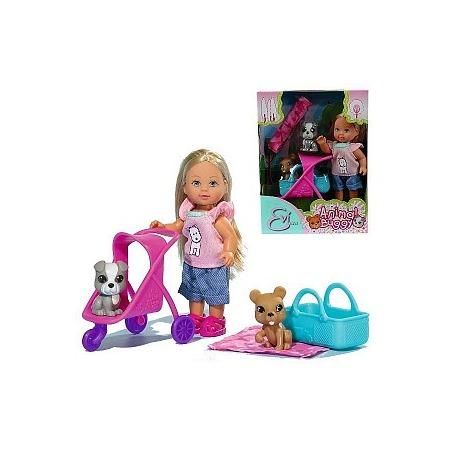 Купить Кукла с аксессуарами Simba «Еви с двумя собачками и коляской»