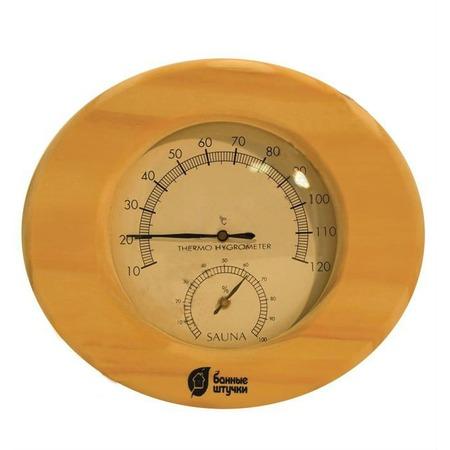 Купить Термометр для бани и сауны Банные штучки в деревянном корпусе с гигрометром