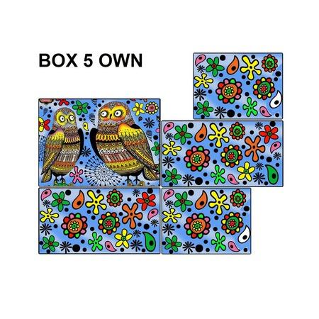 Купить Коробка-раскраска Color Velvet «Совы»