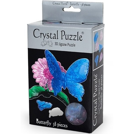 Купить Кристальный пазл 3D Crystal Puzzle «Бабочка Голубая»