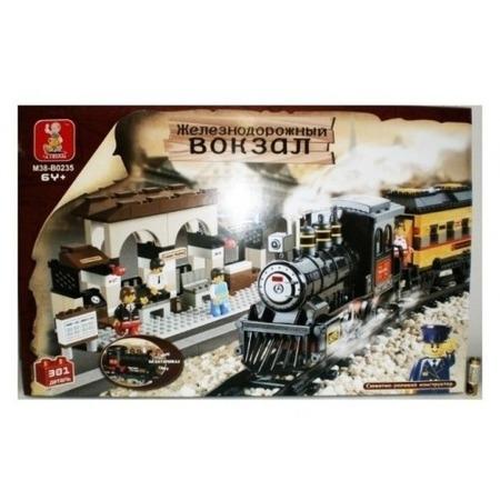 Купить Конструктор Tongde В71763 Железнодорожный вокзал с локомотивом