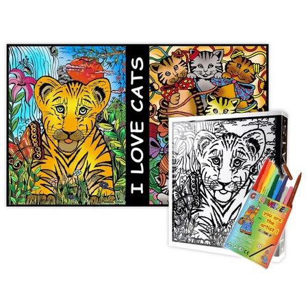 Купить Папка-раскраска Color Velvet «Кошки»