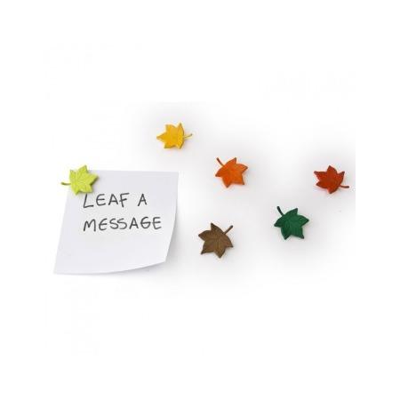 Купить Набор из 6-ти магнитов Qualy Leaf a Message