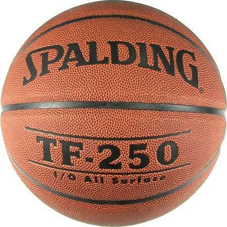 Купить Мяч баскетбольный Spalding TF-250 Synthetic Leather. Размер мяча: №5