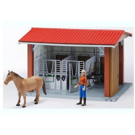 Купить Игровой набор Bruder Конюшня с всадницей и лошадью 62-520