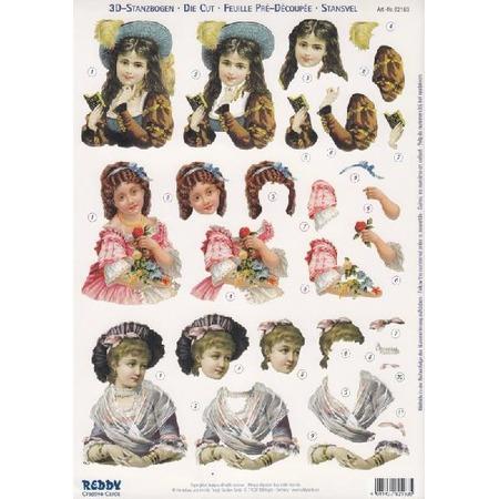 Аппликация бумажная вырубная Reddy Creative Cards «Детские портреты»