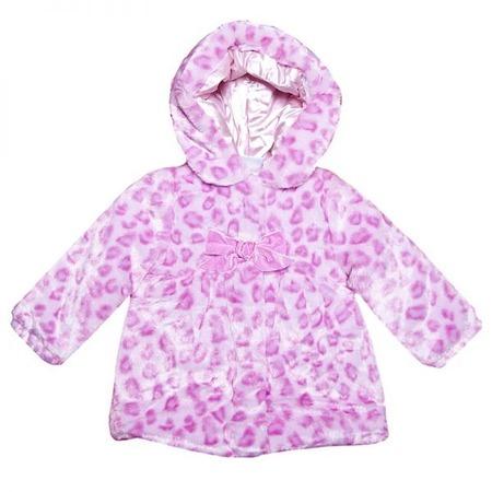 Купить Шубка с капюшоном детская Bon Bebe «Розовый ягуар»