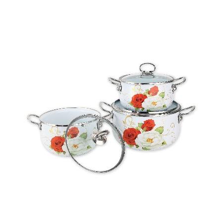 Купить Набор посуды Delta Белая роза