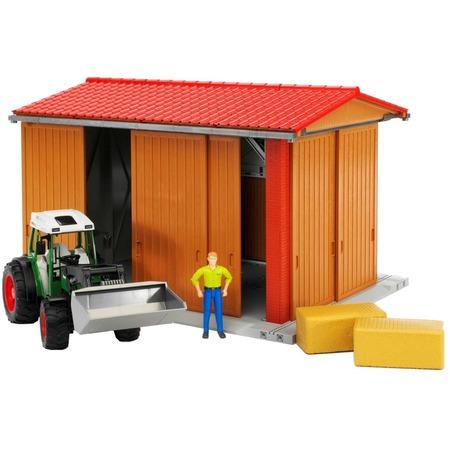 Купить Игровой набор Bruder Гараж с трактором Fendt 209 S