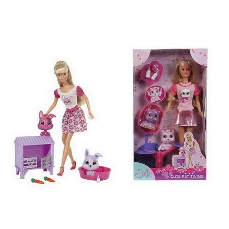 Купить Кукла с аксессуарами Simba Штеффи с домашним животным. В ассортименте