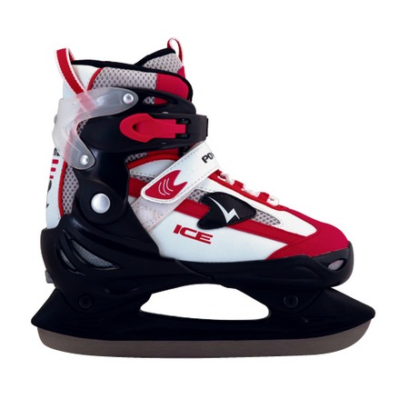 Купить Коньки детские раздвижные хоккейные ATEMI TEMP черно-красные