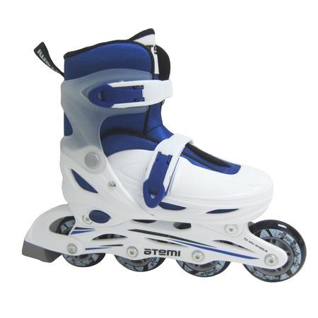 Купить Детские роликовые коньки ATEMI AJIS-12.05 Neon hard boot white/blue