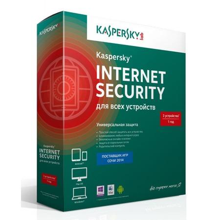 Купить Антивирусное программное обеспечение Kaspersky Kaspersky Internet Security Multi-Device Russian Ed. 3-Device, 1 year, Base Box