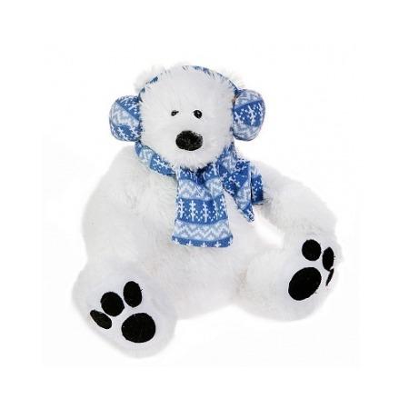 Купить Мягкая игрушка Button Blue Мишка-полярник в наушниках