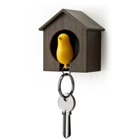 Купить Держатель и брелок для ключей Qualy Sparrow