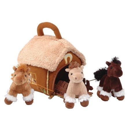 Купить Мягкая игрушка Gulliver Домик-сумка с 3-мя лошадками