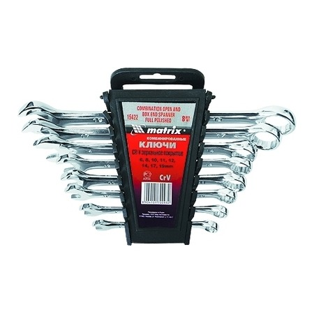 Купить Набор ключей комбинированных MATRIX полированный хром, 8 шт.