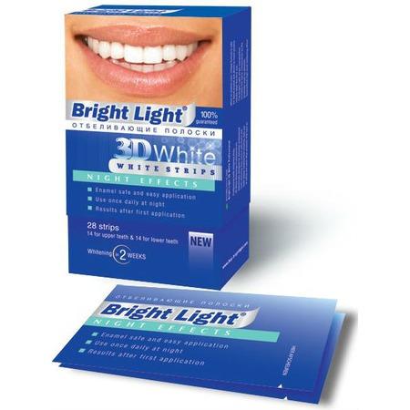Купить Полоски для отбеливания зубов Bright Light Night Effects