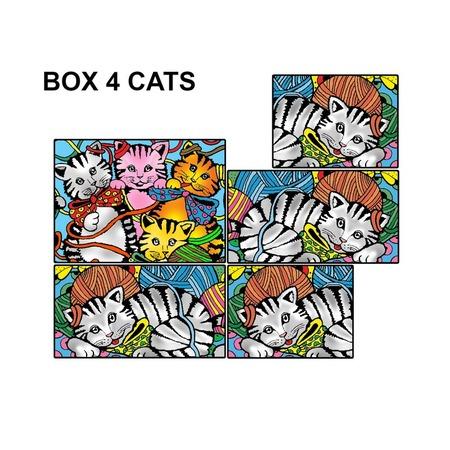Купить Коробка-раскраска Color Velvet «Котята»