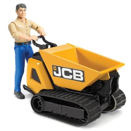 Купить Гусеничный перевозчик с рабочим Bruder JCB Dumpster HTD-5