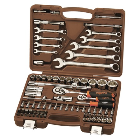 Купить Универсальный набор инструментов: торцевые головки с 12-гранными головками и аксессуарами и комбинированные ключи Ombra OMT82S12
