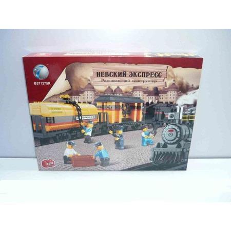Купить Конструктор Tongde В71762 Железнодорожный вокзал с локомотивом