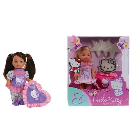 Купить Кукла Еви Kitty-пижамная вечеринка Simba Hello Kitty