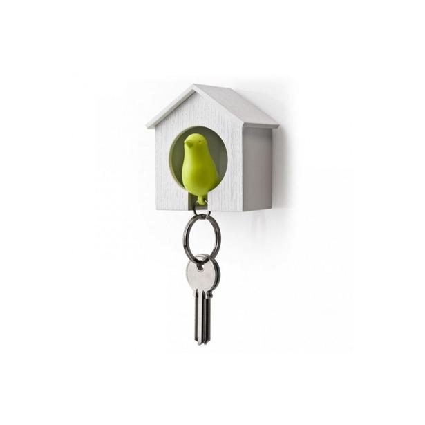 фото Брелок для ключей со свистком «Птичка в скворечнике» BH-009. В ассортименте