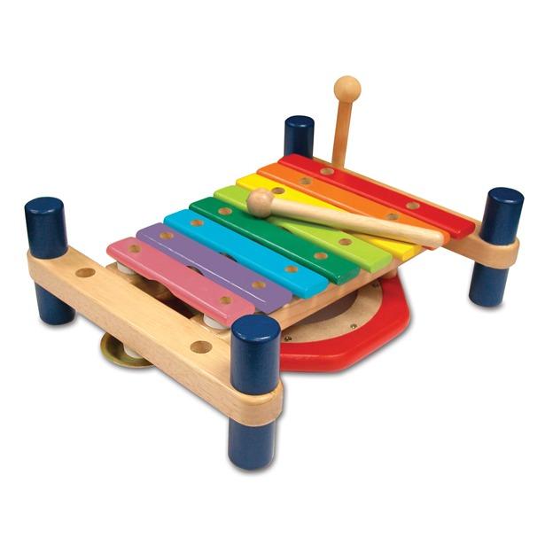 фото Развивающий музыкальный набор I'm toy «ксилофон и барабан»