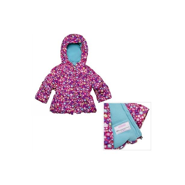 фото Куртка утепленная с капюшоном Amy Byer Цветочек-pink