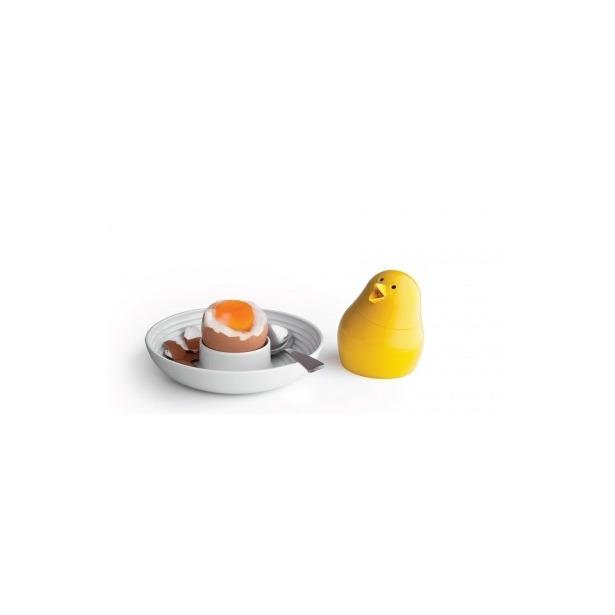 фото Набор для завтрака и специй Qualy Jib-Jib. Цвет: белый, желтый