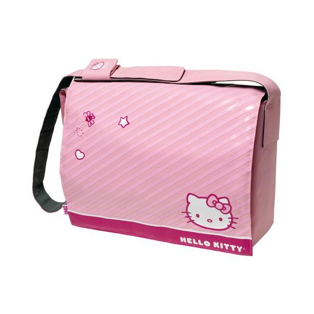 """фото Месседжер-портфель для ноутбуков Cellular Line Hello Kitty. Цвет: розовый. Размер: 13,3"""""""