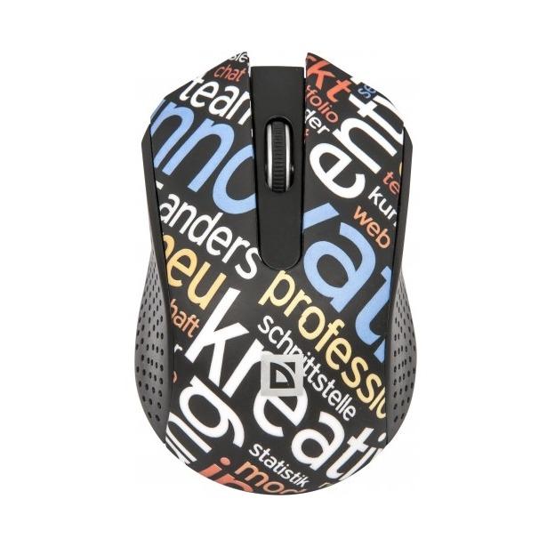 фото Мышь DEFENDER StreetArt MS-405 Nano Black USB