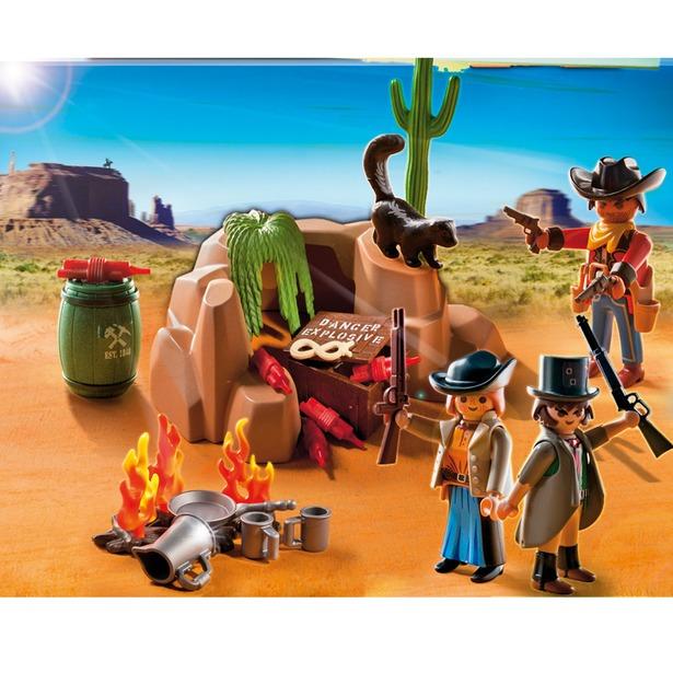 фото Переселенцы с костром и динамитом Playmobil 5250pm