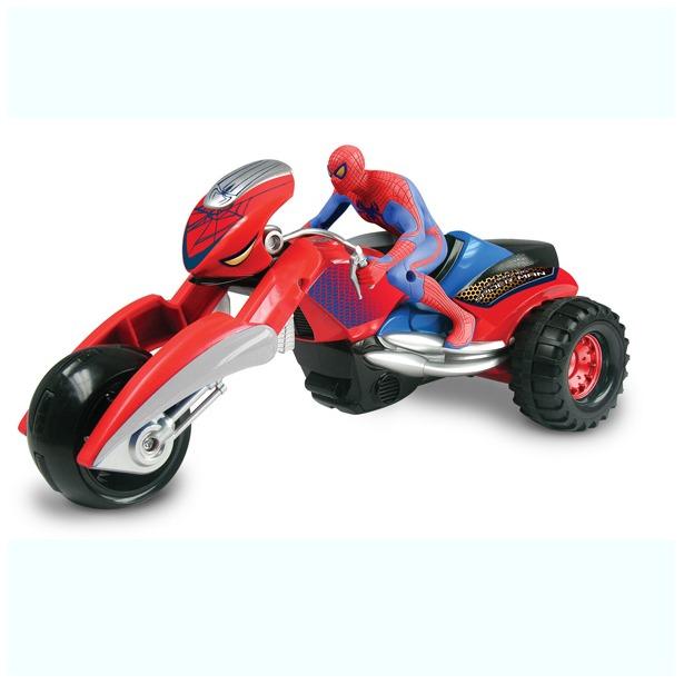 фото Человек-паук Silverlit на мотоцикле