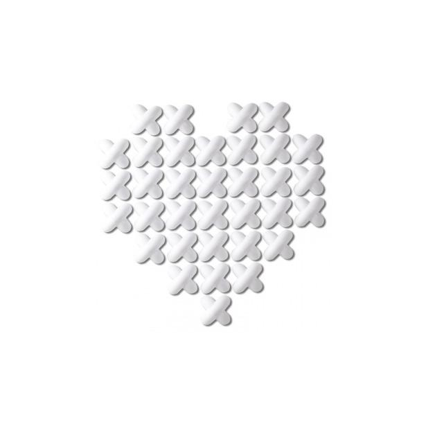 фото Декор для стен Umbra Cross Stitch. Цвет: белый