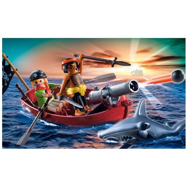 фото  Пиратская лодка и акула Playmobil 5137pm