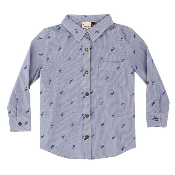 фото Рубашка детская Fore!! Axel and Hudson Pelican All Over Print Shirt