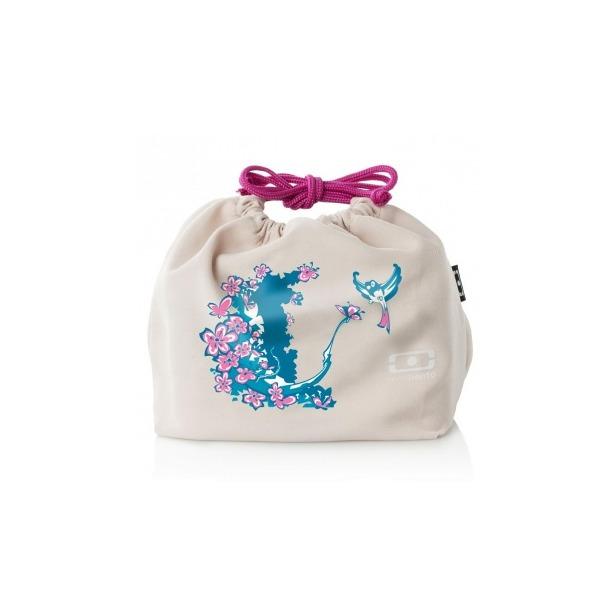 фото Мешочек для ланча Monbento MB Pochette Graphic. Цвет: розовый, бежевый, голубой