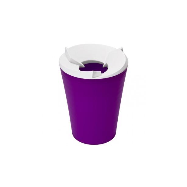 фото Контейнер для мусора Qualy Recycle. Цвет: фиолетовый