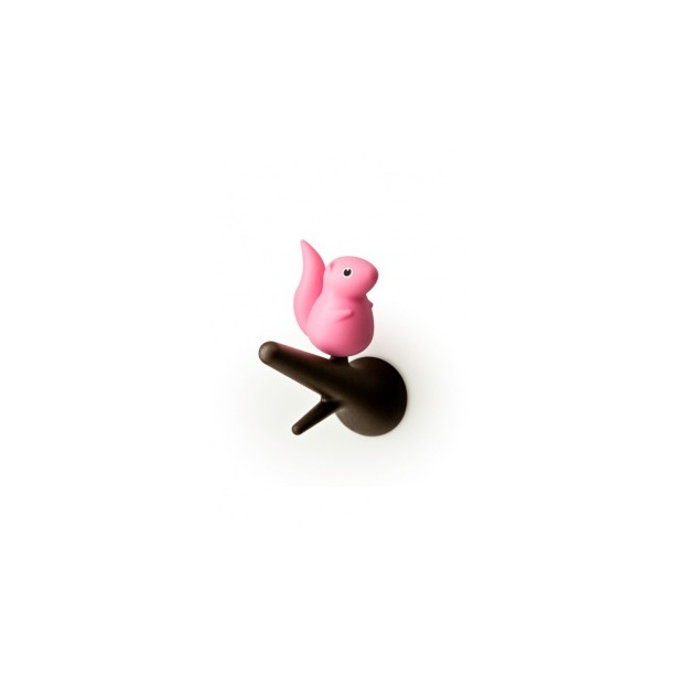 фото Вешалки настенные Qualy Squirrel. Цвет: розовый, коричневый